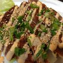 Grilled Spicy Yellowfin Tuna  - Lightly Seared in cajun spice and toped with spicy mayo hot sauce and green onion