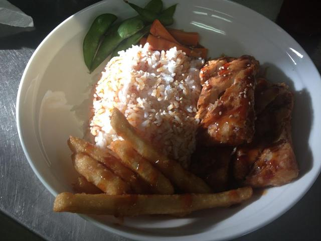 Salmon Teriyaki with Rice entree